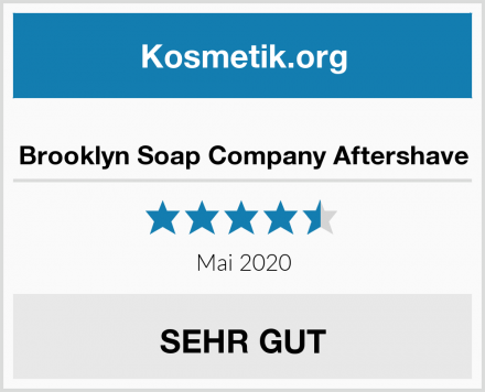 Brooklyn Soap Company Aftershave Test