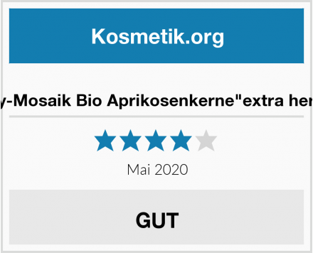 """My-Mosaik Bio Aprikosenkerne""""extra herb"""" Test"""