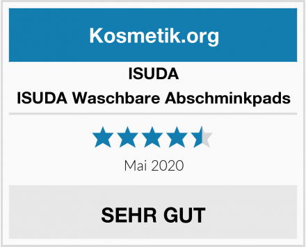 ISUDA ISUDA Waschbare Abschminkpads Test