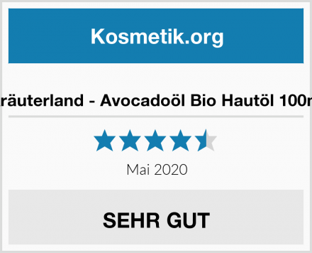 Kräuterland - Avocadoöl Bio Hautöl 100ml Test