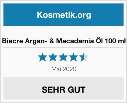 Biacre Argan- & Macadamia Öl 100 ml Test
