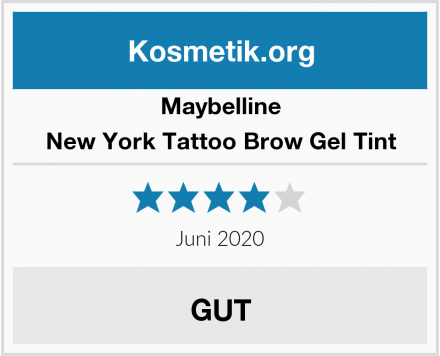 Maybelline New York Tattoo Brow Gel Tint Test