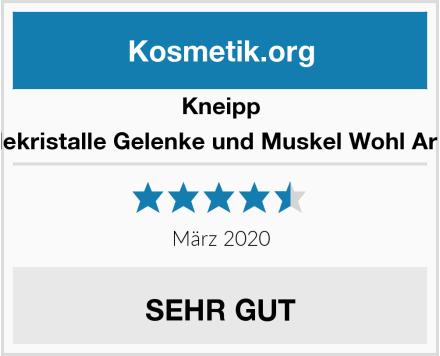 Kneipp Badekristalle Gelenke und Muskel Wohl Arnika Test