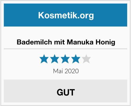 Bademilch mit Manuka Honig Test