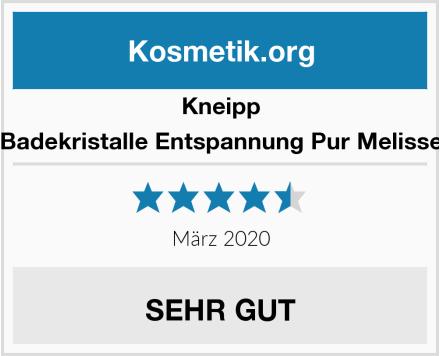Kneipp Badekristalle Entspannung Pur Melisse Test