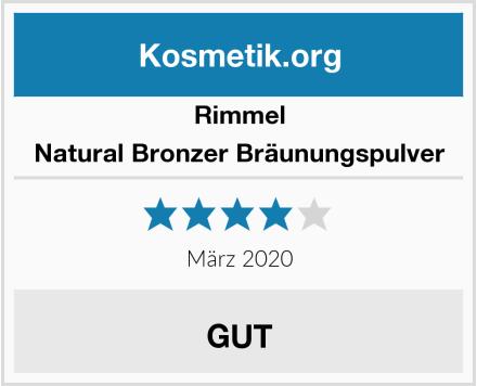 Rimmel Natural Bronzer Bräunungspulver Test