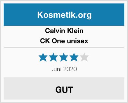 Calvin Klein CK One unisex Test
