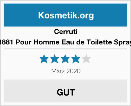 Cerruti 1881 Pour Homme Eau de Toilette Spray Test