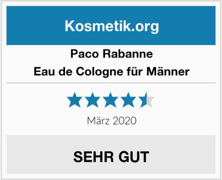 Paco Rabanne Eau de Cologne für Männer Test
