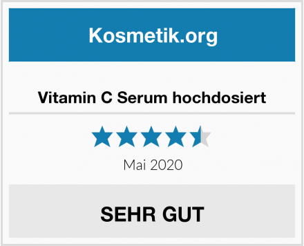 Vitamin C Serum hochdosiert Test