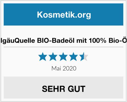 AllgäuQuelle BIO-Badeöl mit 100% Bio-Öle Test