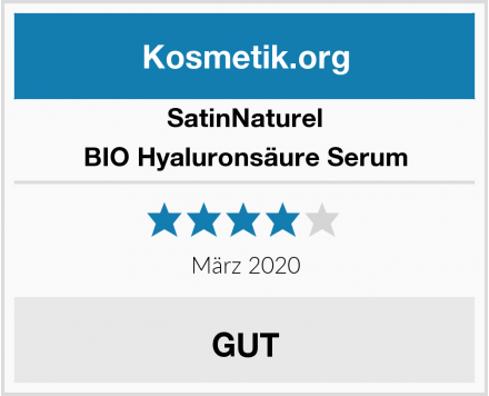 SatinNaturel BIO Hyaluronsäure Serum Test