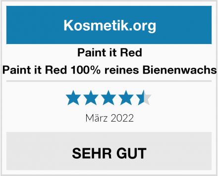 Paint it Red Paint it Red 100% reines Bienenwachs Test