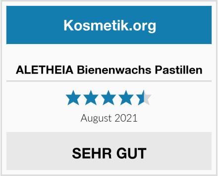 ALETHEIA Bienenwachs Pastillen Test