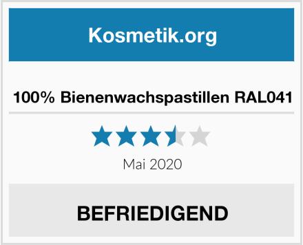 100% Bienenwachspastillen RAL041 Test
