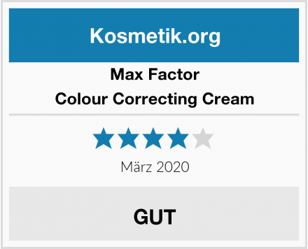 Max Factor Colour Correcting Cream Test