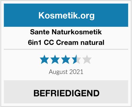 SANTE Naturkosmetik 6in1 CC Cream natural Test