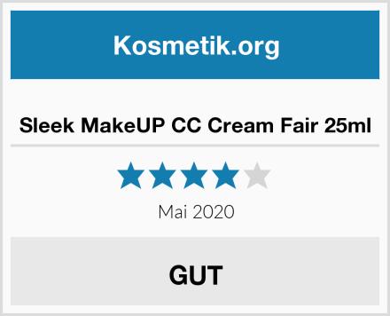 Sleek MakeUP CC Cream Fair 25ml Test