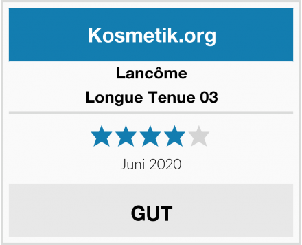 Lancôme Longue Tenue 03 Test