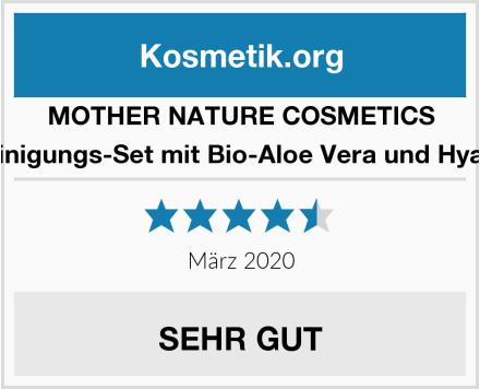 MOTHER NATURE COSMETICS Gesichtsreinigungs-Set mit Bio-Aloe Vera und Hyaluronsäure Test