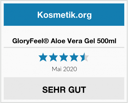 GloryFeel® Aloe Vera Gel 500ml Test
