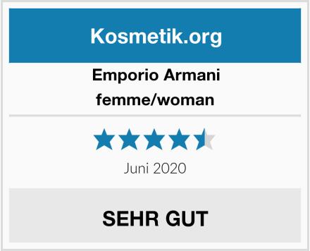 Emporio Armani femme/woman Test