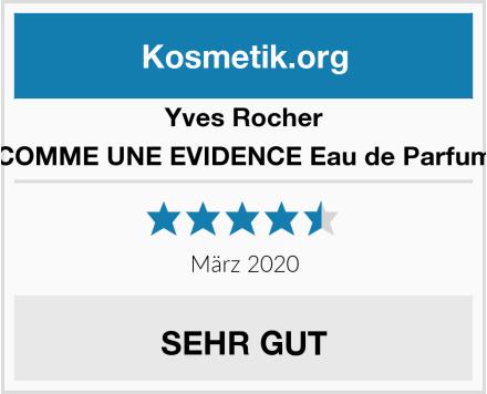 Yves Rocher COMME UNE EVIDENCE Eau de Parfum Test