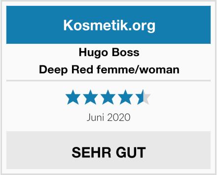Hugo Boss Deep Red femme/woman Test