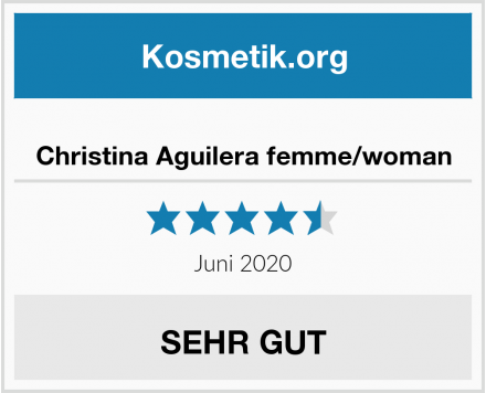 Christina Aguilera femme/woman Test