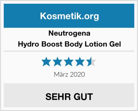 Neutrogena Hydro Boost Body Lotion Gel Test