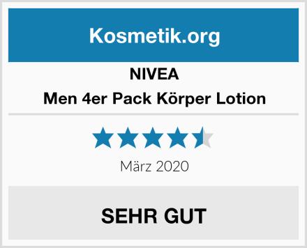 NIVEA Men 4er Pack Körper Lotion Test