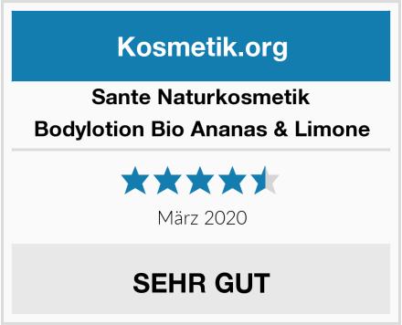 SANTE Naturkosmetik Bodylotion Bio Ananas & Limone Test