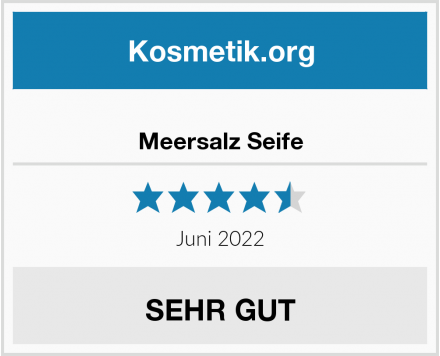 Meersalz Seife Test