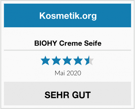 BIOHY Creme Seife Test