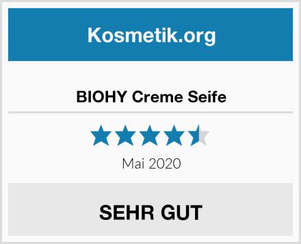 BIOHY Creme Seife Test