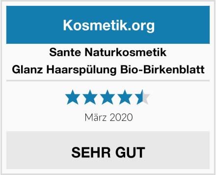 SANTE Naturkosmetik Glanz Haarspülung Bio-Birkenblatt Test