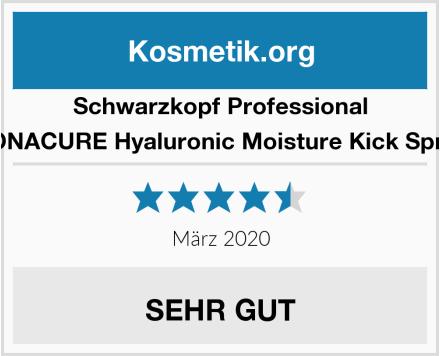 Schwarzkopf Professional BONACURE Hyaluronic Moisture Kick Spray Test