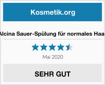 Alcina Sauer-Spülung für normales Haar Test