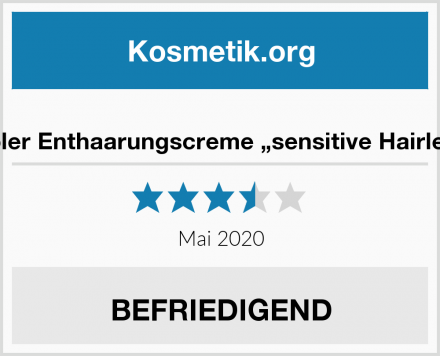 "Dr. Rimpler Enthaarungscreme ""sensitive Hairless Stop"" Test"