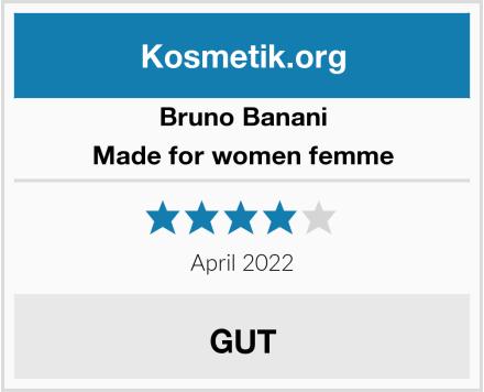 Bruno Banani Made for women femme Test