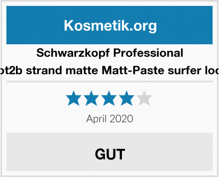Schwarzkopf Professional got2b strand matte Matt-Paste surfer look Test