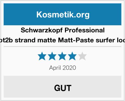 Schwarzkopf Professional got2b strand matte Matt-Paste surfer look Test