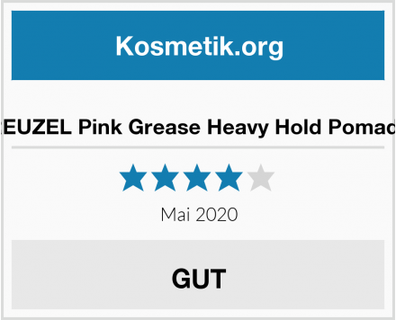 REUZEL Pink Grease Heavy Hold Pomade Test