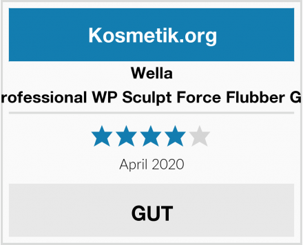 Wella Professional WP Sculpt Force Flubber Gel Test