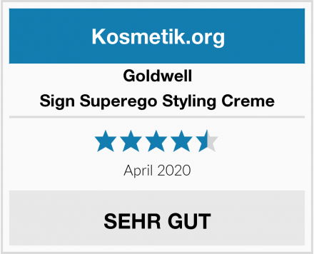 Goldwell Sign Superego Styling Creme Test