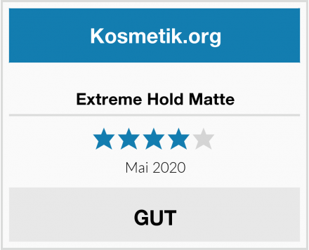 Extreme Hold Matte Test