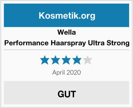 Wella Performance Haarspray Ultra Strong Test