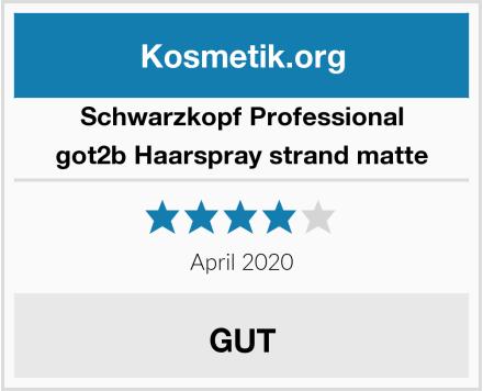 Schwarzkopf Professional got2b Haarspray strand matte Test