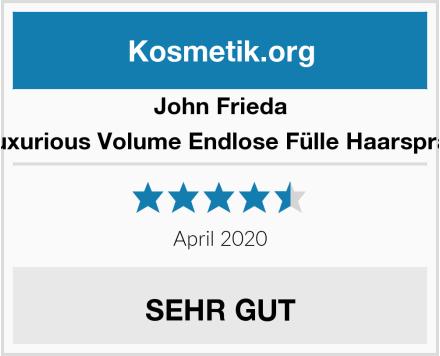 John Frieda Luxurious Volume Endlose Fülle Haarspray Test
