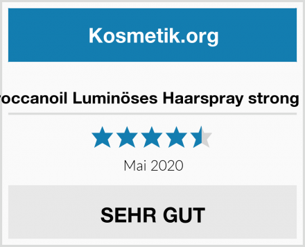Moroccanoil Luminöses Haarspray strong hold Test